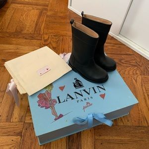 Lanvin Girls Leather Boots size 24